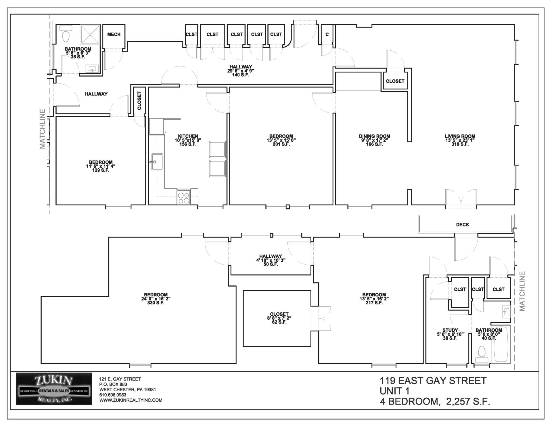 119 E. Gay St. Apt. 1 (Call for Pricing)