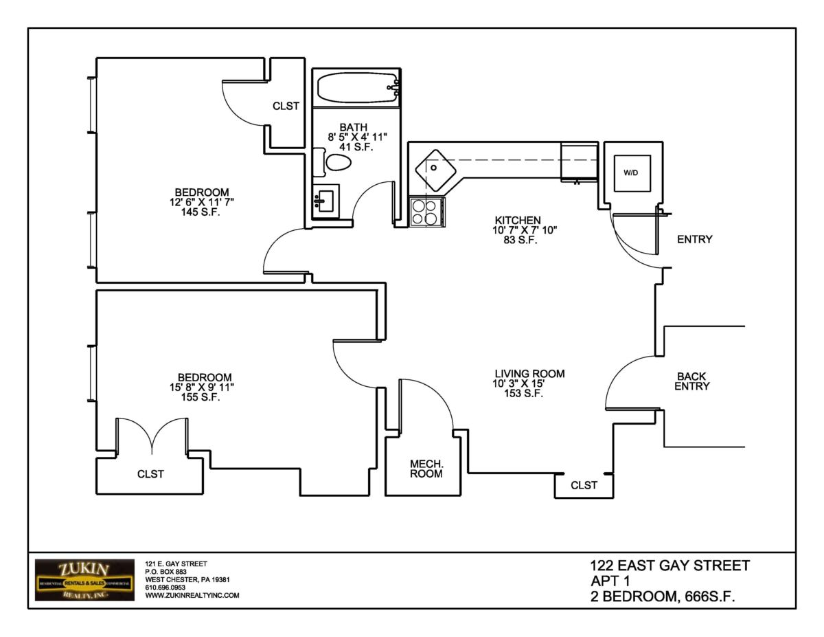 122 East Gay Street Apt 1