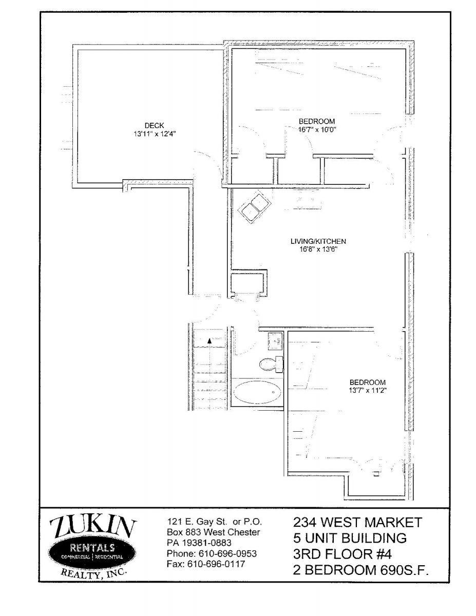 236 West Market Street Apt 4- 1 Roommate (Female)