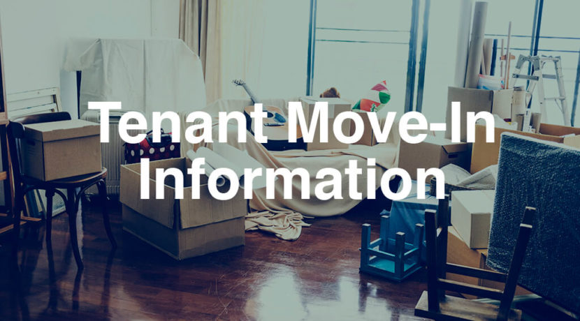 Tenant Move In Information