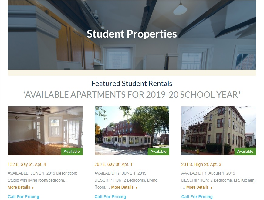 Zukin Realty Inc 2019 20 Student Housing Process