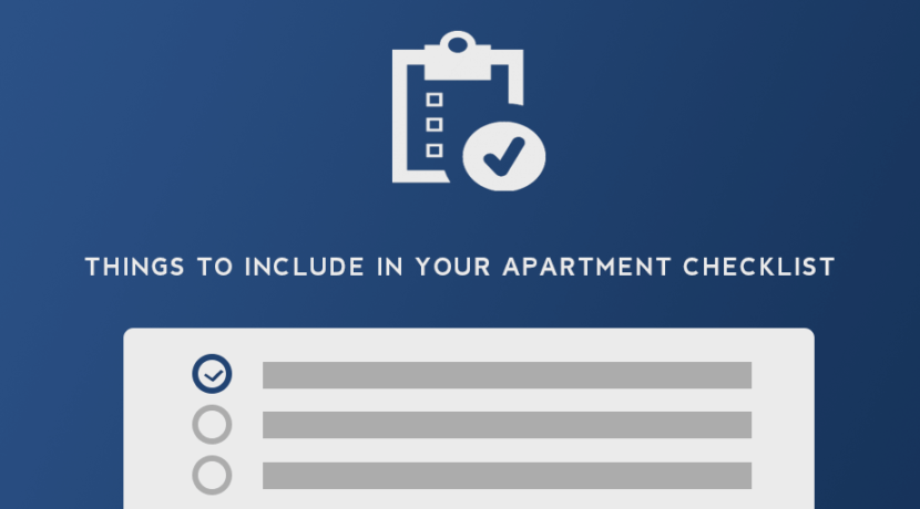 Things To Include On Your Apartment Al Checklist