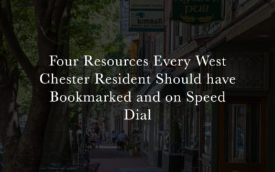 Four Underutilized Resources Every West Chester Resident Should have Bookmarked and on Speed Dial