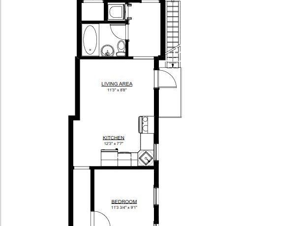119 E Market #4 Floor Plan