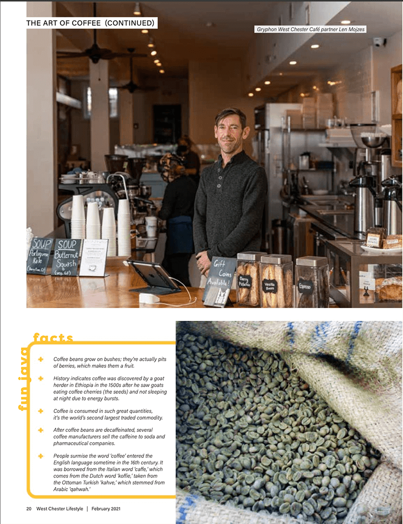 Gryphon Cafe West Chester - West Chester Lifestyle Magazine February 2021