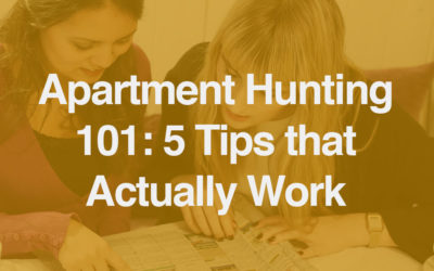 Apartment Hunting 101: 5 Tips that Actually Work