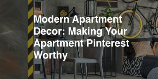 Modern Small Apartment Decor