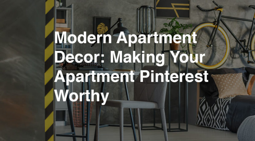 Modern Small Apartment Decor