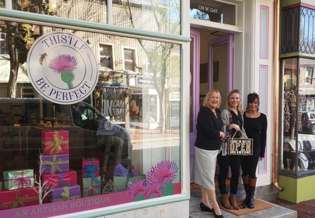 Owners Katie & Jane Jennings of Thistle Be Perfect
