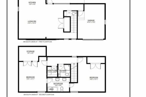 306 S Union Carriage House 1- Floor Plan